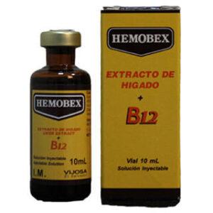 HEMOBEX Extracto de Higado + Vitamina B12 Vial 10ml 3Pack (Inyecciones)